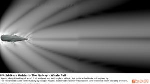 Numerical Schlieren of Sperm Whale at Mach 2