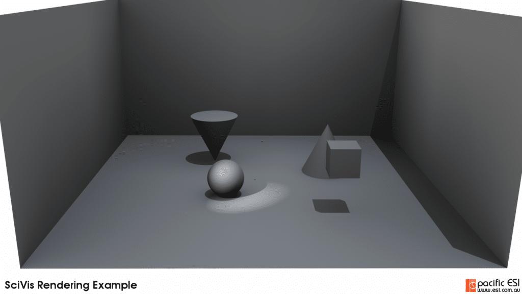 Figure 9 – 20 ambient samples, 100 samples per pixel