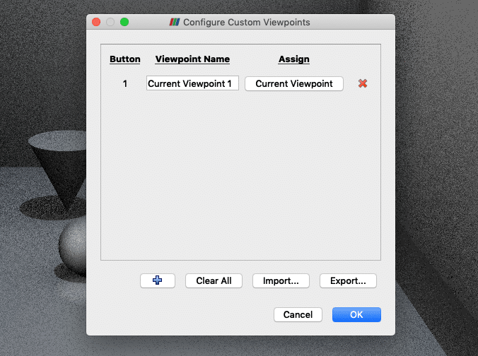 Figure 5 – custom viewpoint dialog in ParaView