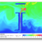 Snapshot of a heated, stratified room simulated in CFD-ACE+